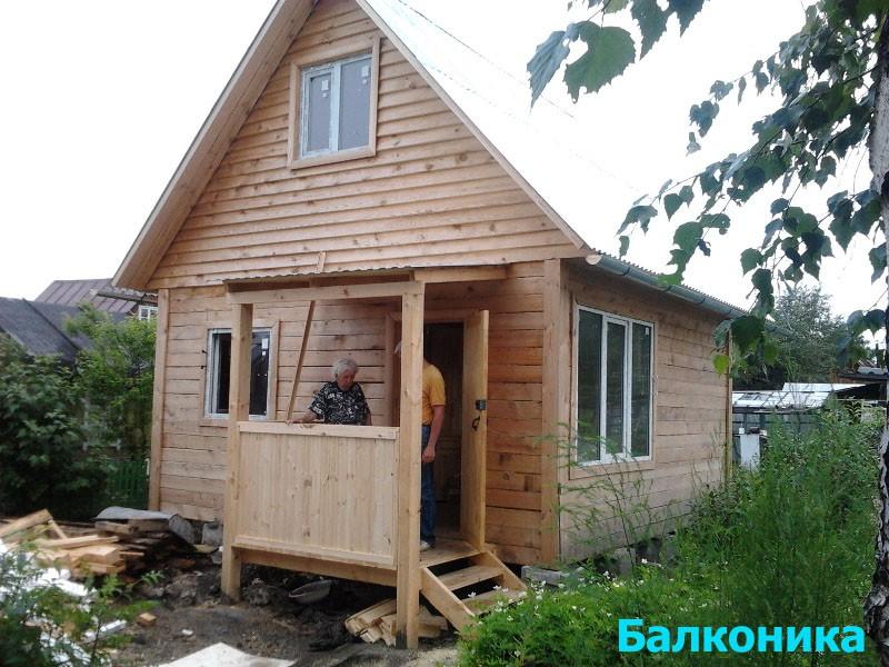 Крыльцо для садового домика