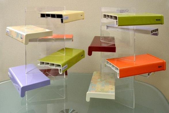 цветовая гамма глянцевых подоконников