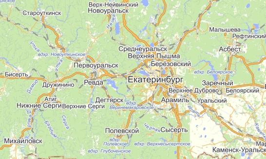 Начинаем работать с городами области в радиусе 100 км. от Екатеринбурга