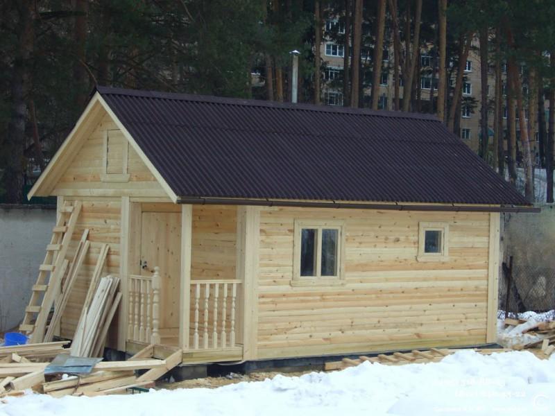 Как построить дом баню в одном 8